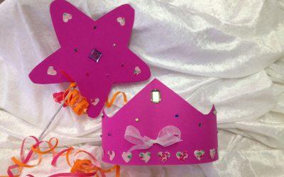 Atelier enfant accessoires de princesse et de chevalier