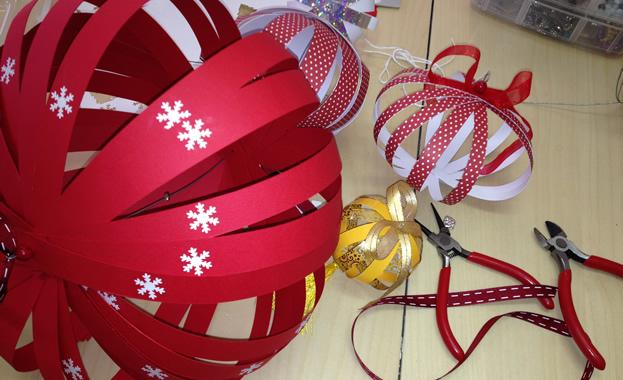 Atelier décorations de Noël