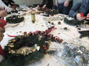 atelier couronnes Noël en entreprise