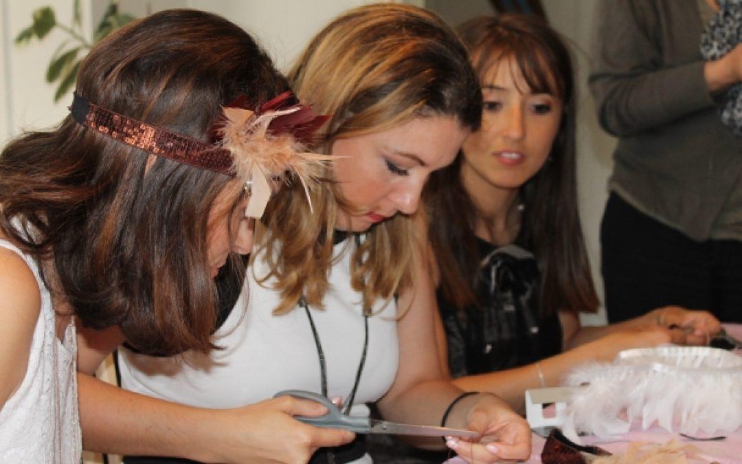 atelier diy headband EVJF enterrement de vie de jeune fille