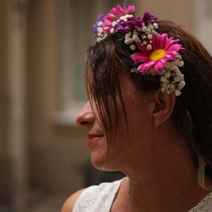 Couronnes de fleurs fraiches atelier DIY EVJF