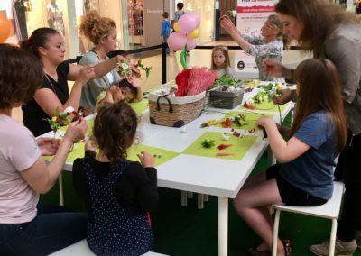 atelier créatif couronnes de fleurs centre commercial Ile de france