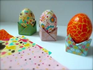 oeufs colorés Pâques