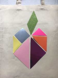 placement tangram sur sac