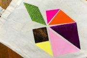 Tutoriel diy Tote Bag Tangram DIY