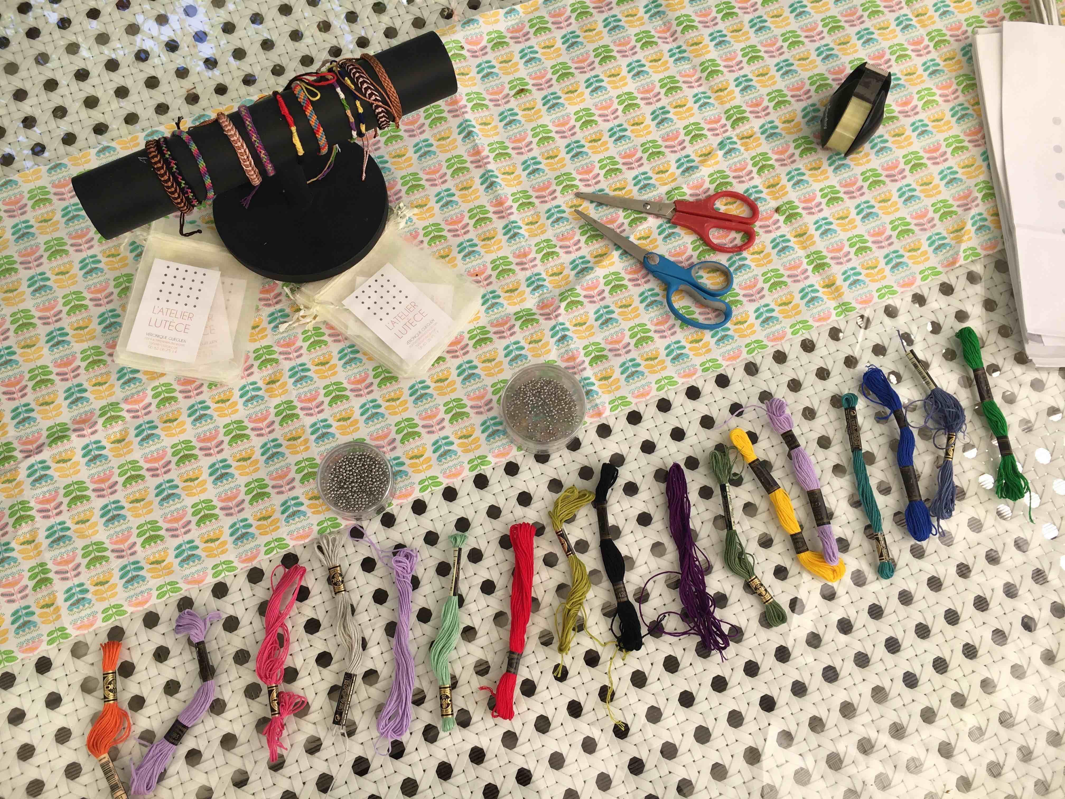 atelier creatif diy bracelet bresilien