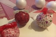 atelier DIY boules de noel arbre de noel ville