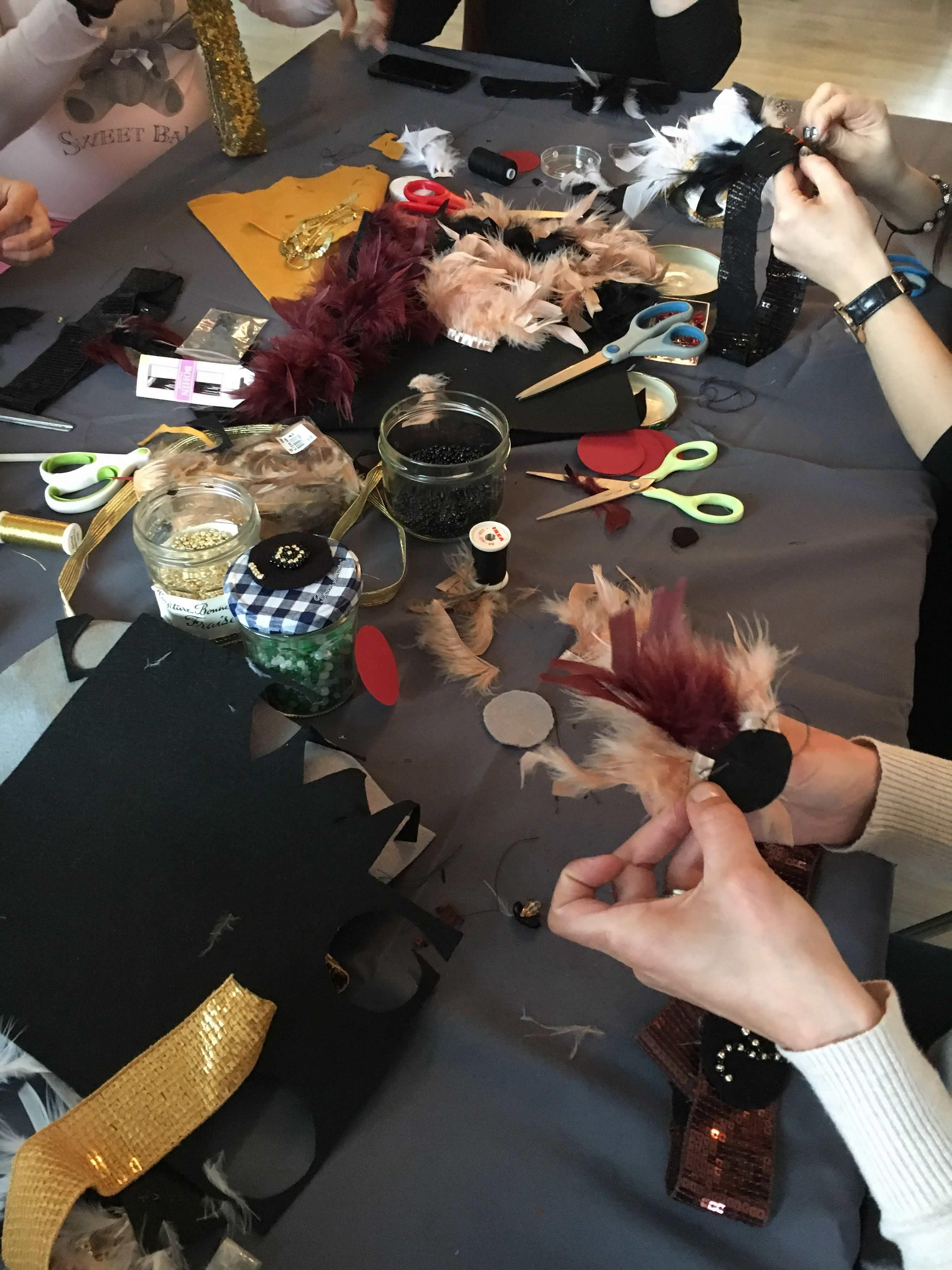 atelier DIY Headband annees folles gatsby