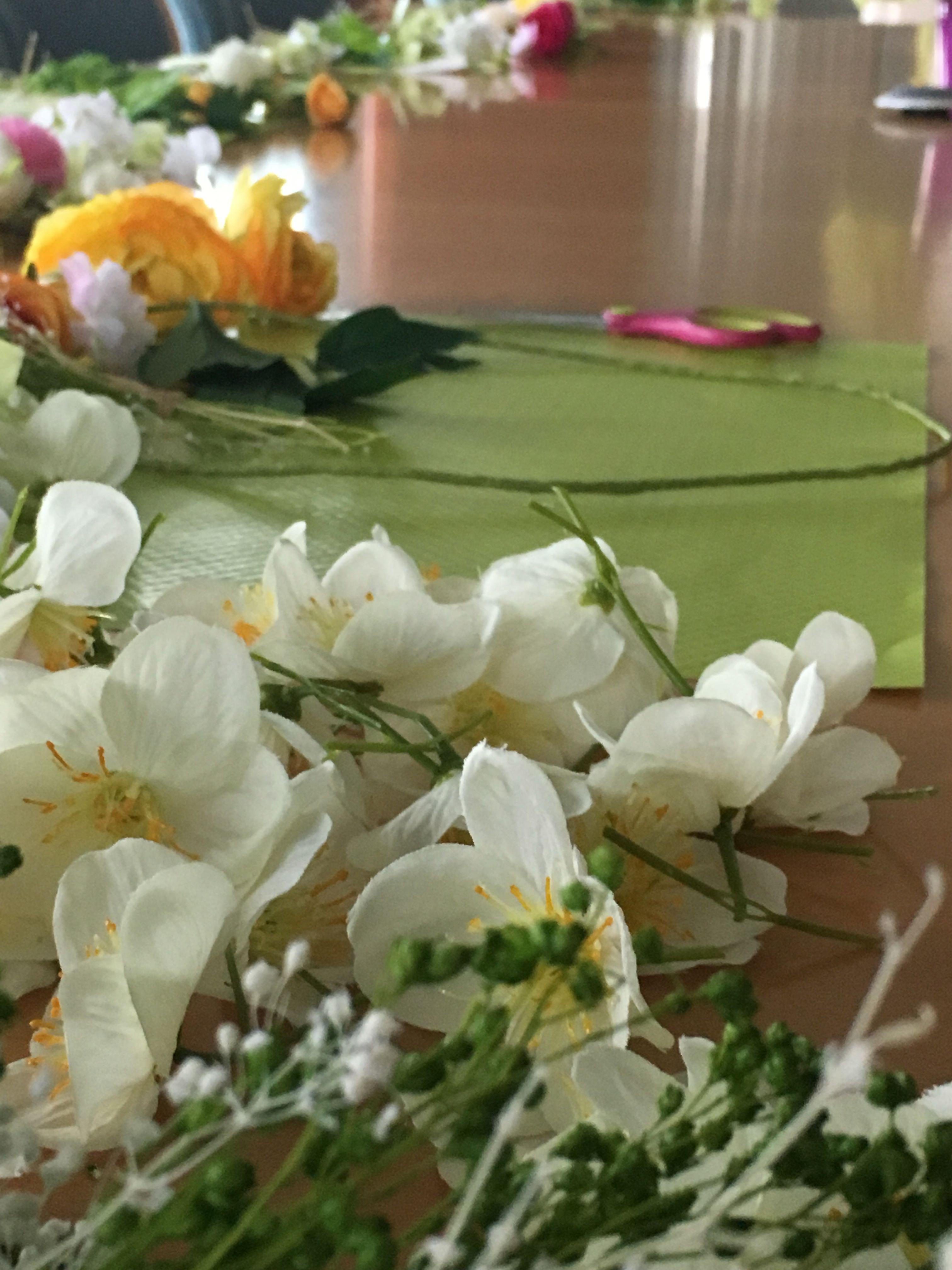 atelier creatif diy couronne de fleurs teambuilding