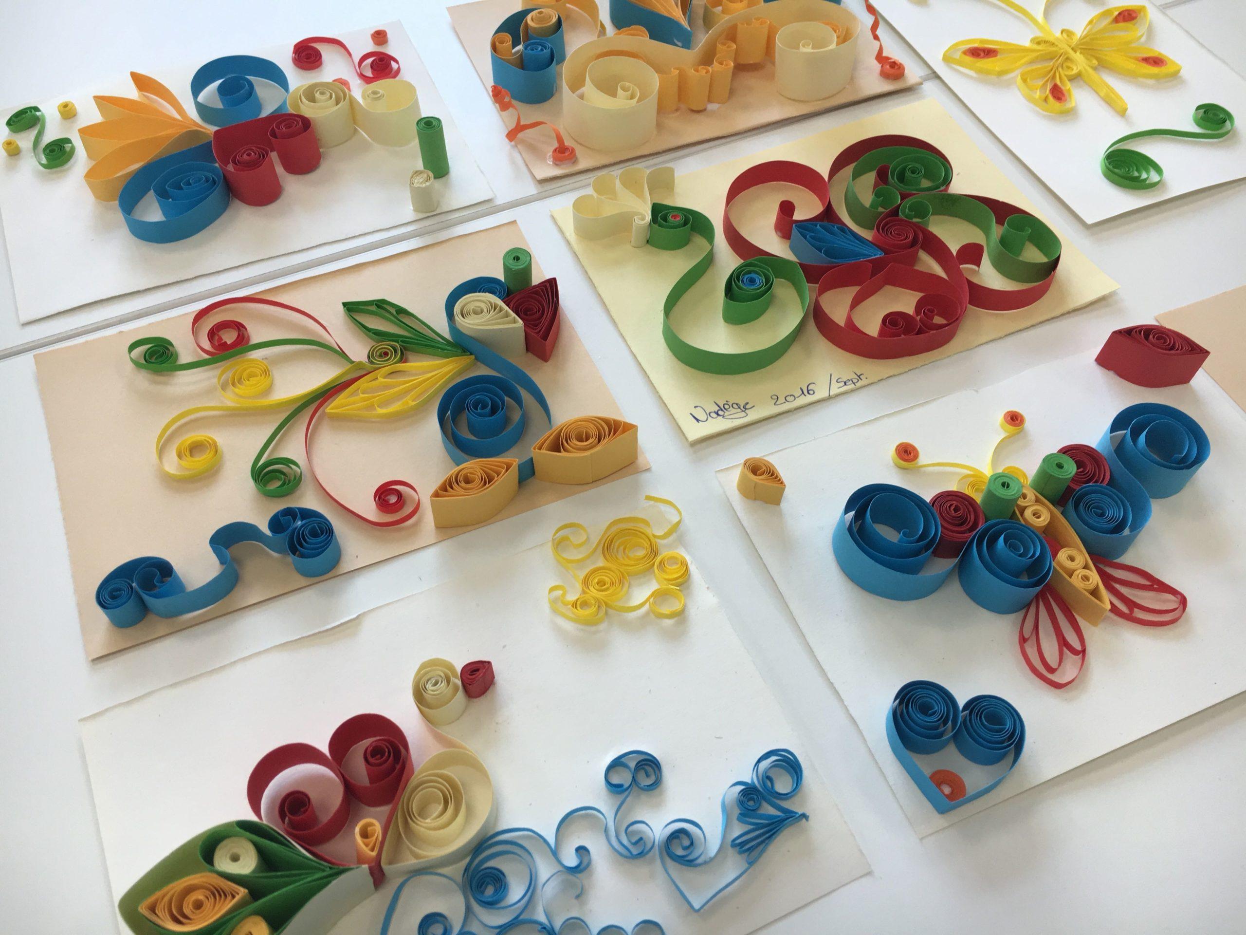 atelier creatif quilling DIY