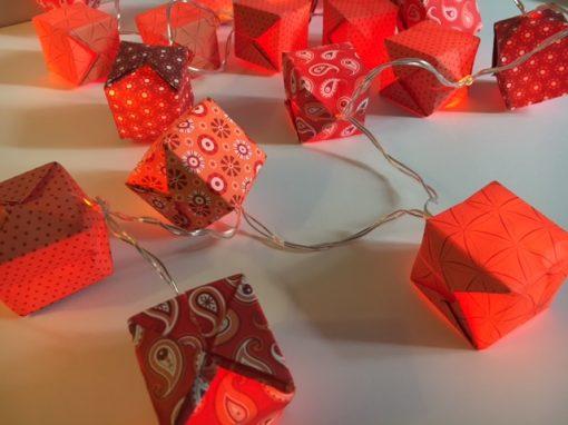 atelier guirlande lumineuse origami noel DIY