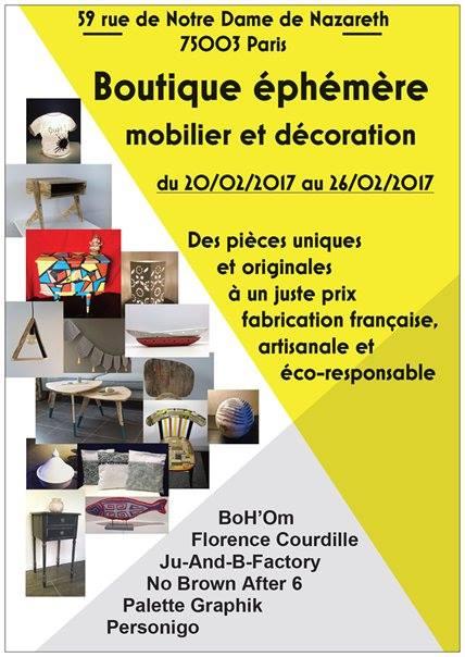 boutique ephemere mobilier et decoration paris