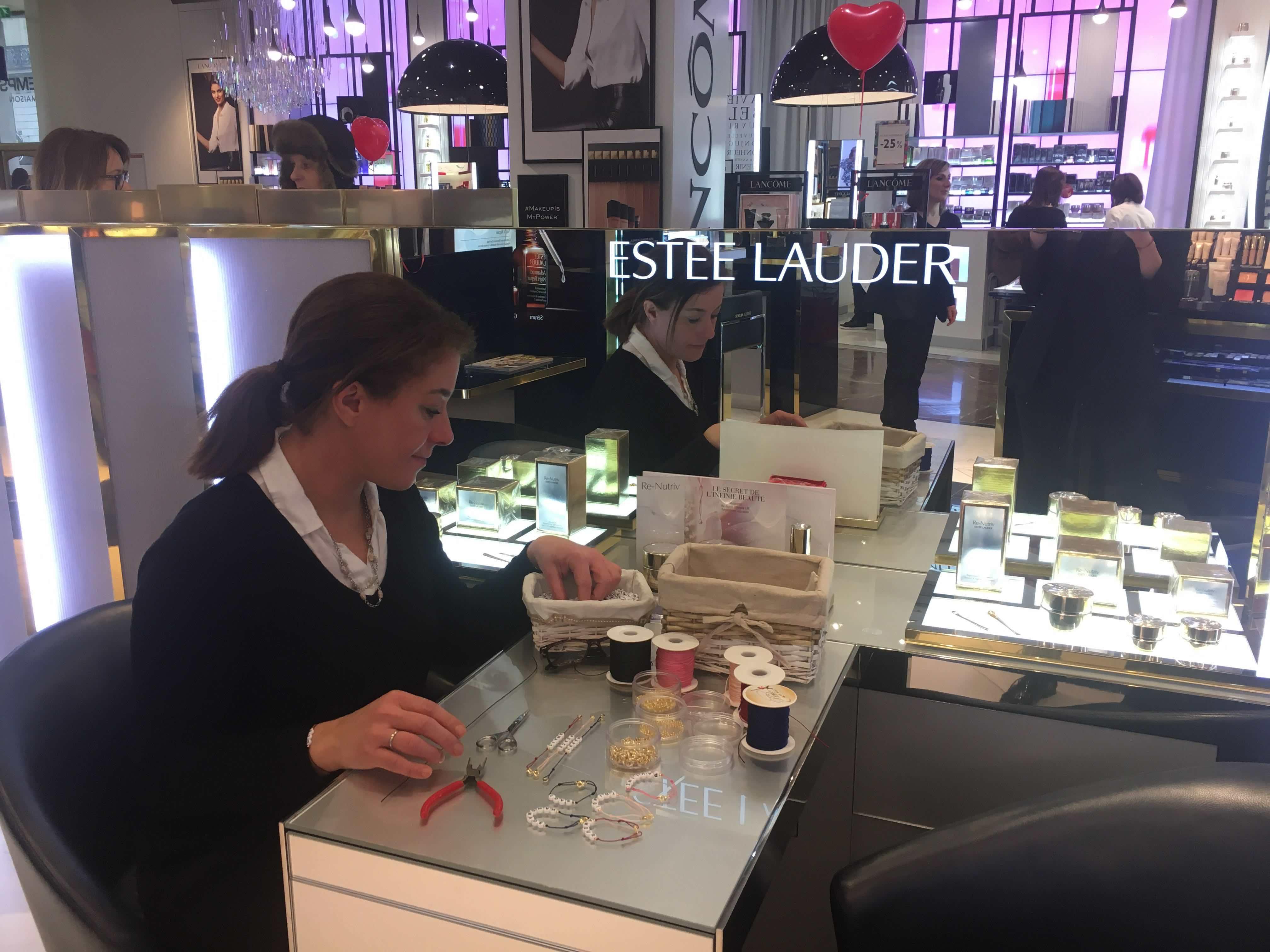 atelier diy bijoux sur mesure estee lauder printemps haussmann