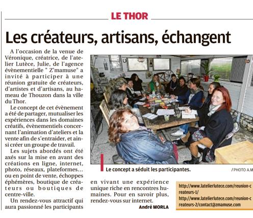 L'Atelier Lutèce dans La Provence du 7 mai