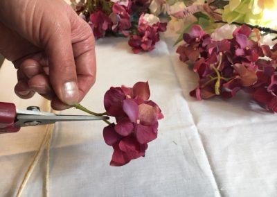 tutoriel HeadBand floral Hippie Boho coupe fleurs