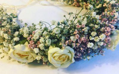 Bridal Day aux Galeries Lafayette : Couronnes de fleurs