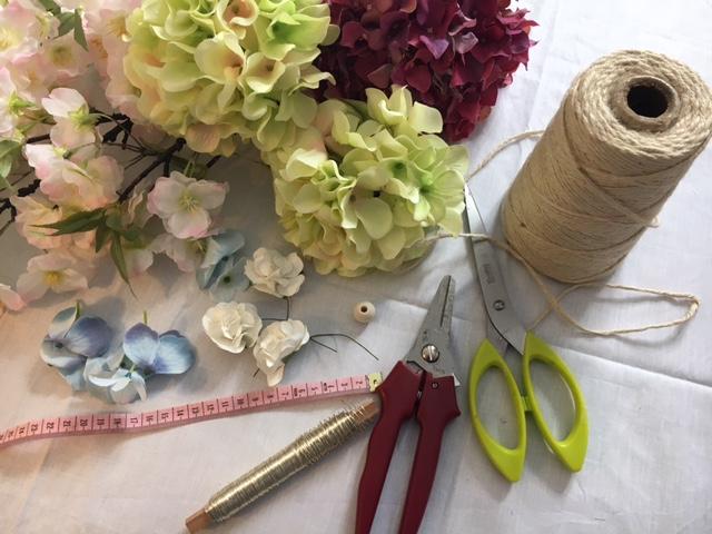 fournitures headband floral boho hippie DIY
