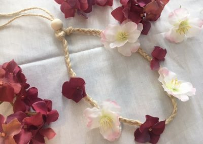 fournitures tutoriel head band floral boho hippie