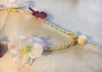 tutoriel headband floral hippie boho placement perle