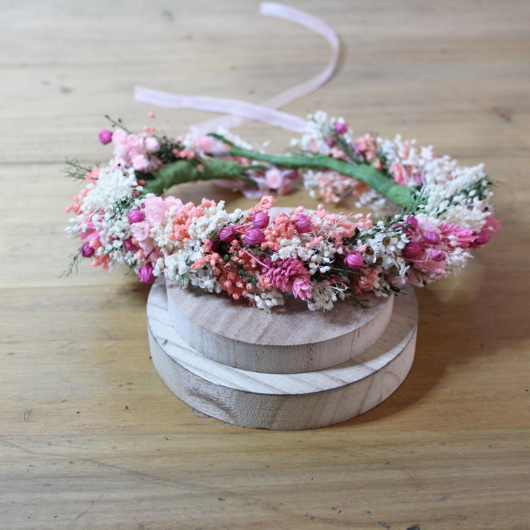 Tutoriel DIY Couronne de fleurs sechees