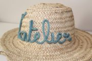 chapeau panier personnalise tricotin