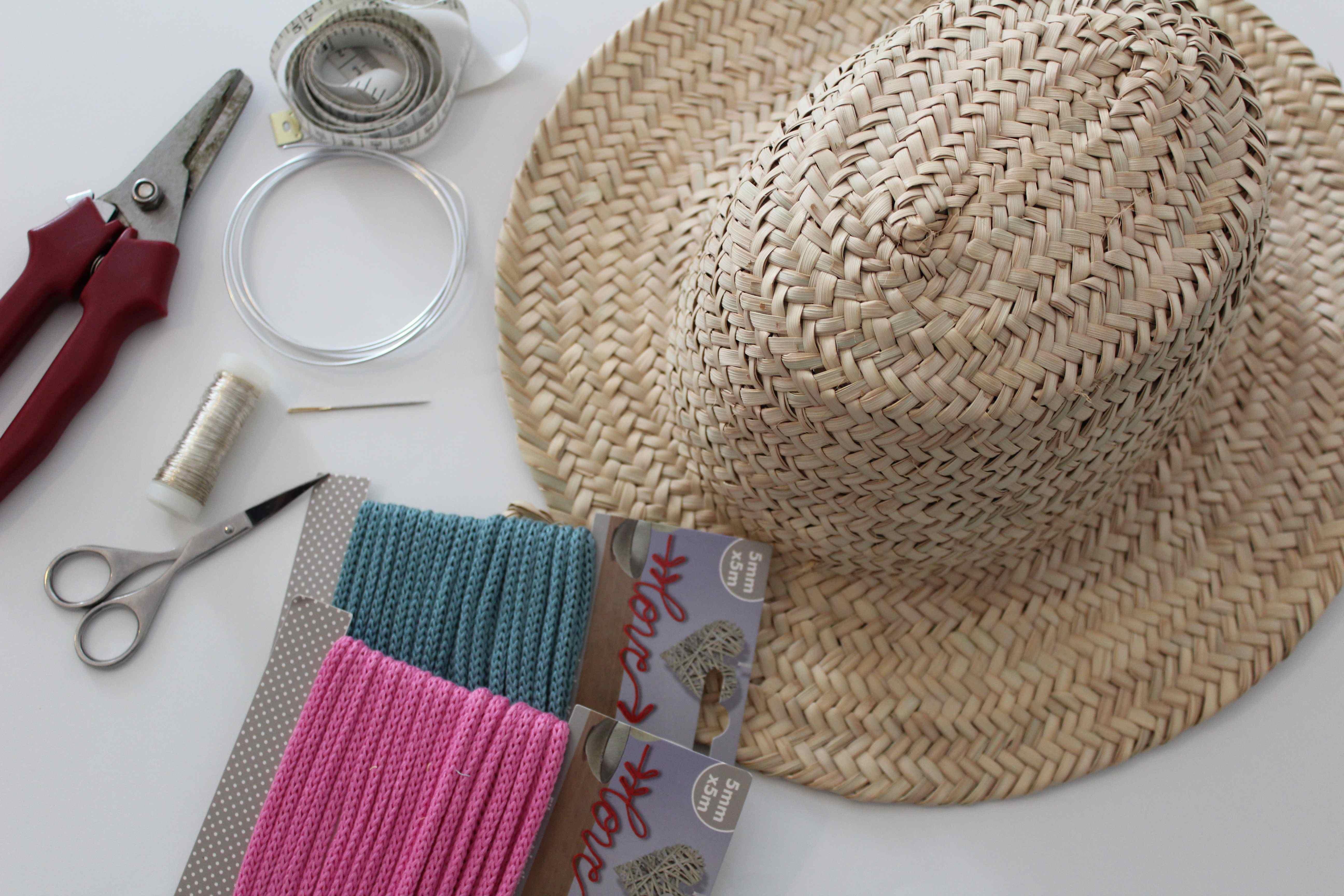 tutoriel panier chapeau personnalise fournitures tricoton inspiration maroc