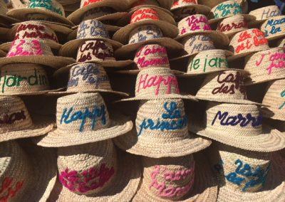 paniers chapeaux marrakech