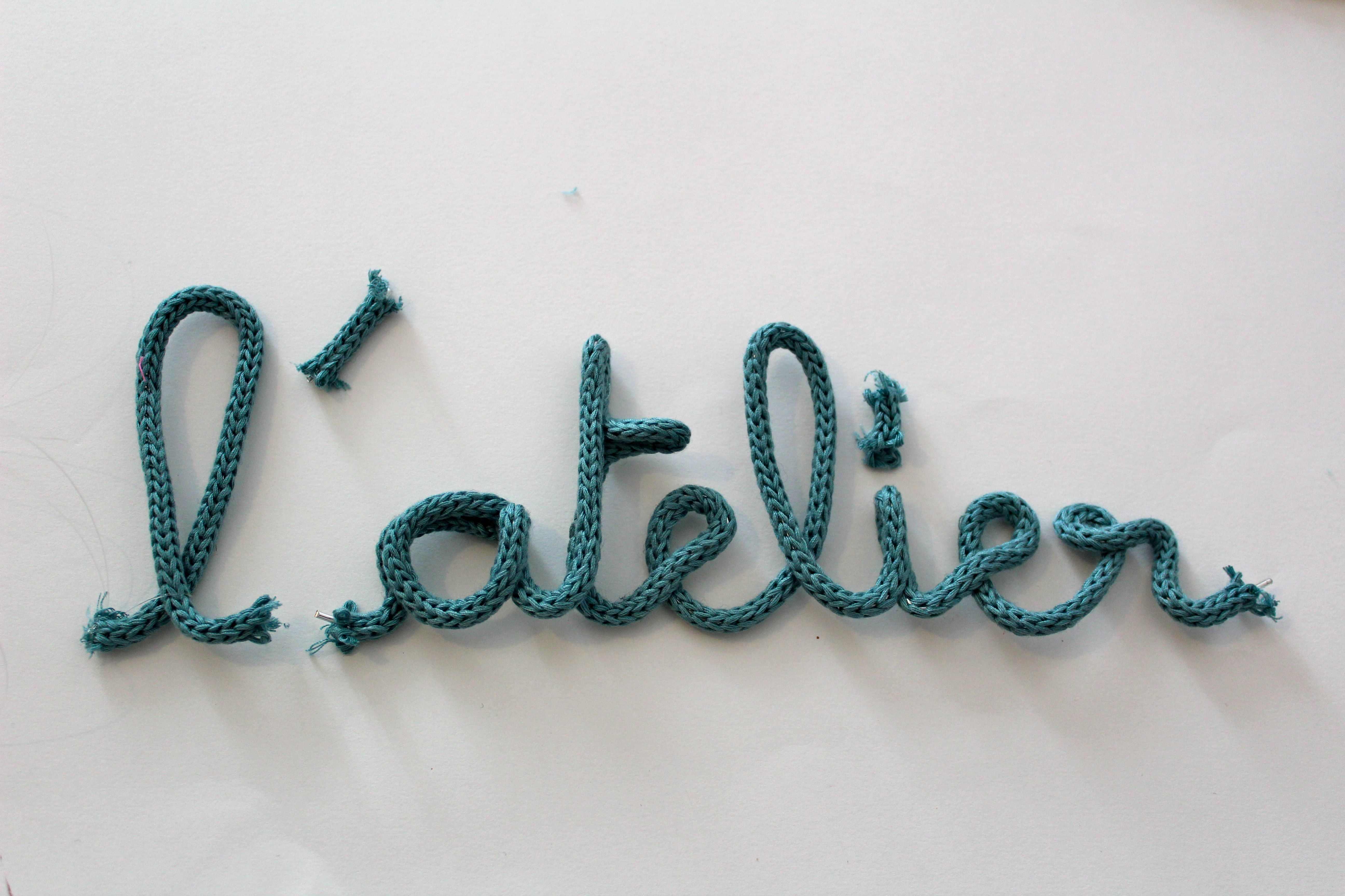 texte en tricotin pour panier ou chapeau