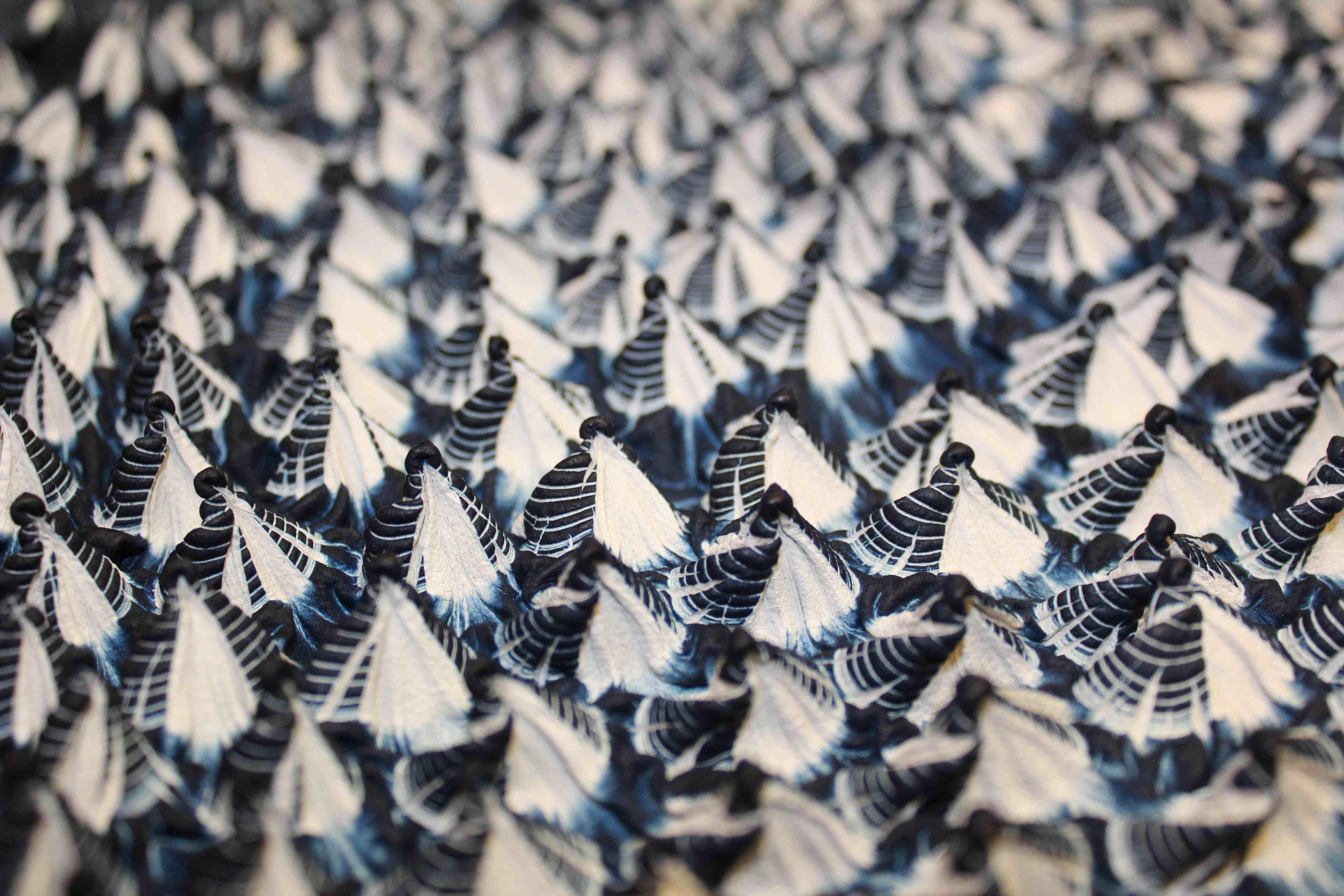 Shibori indigo tie and dye
