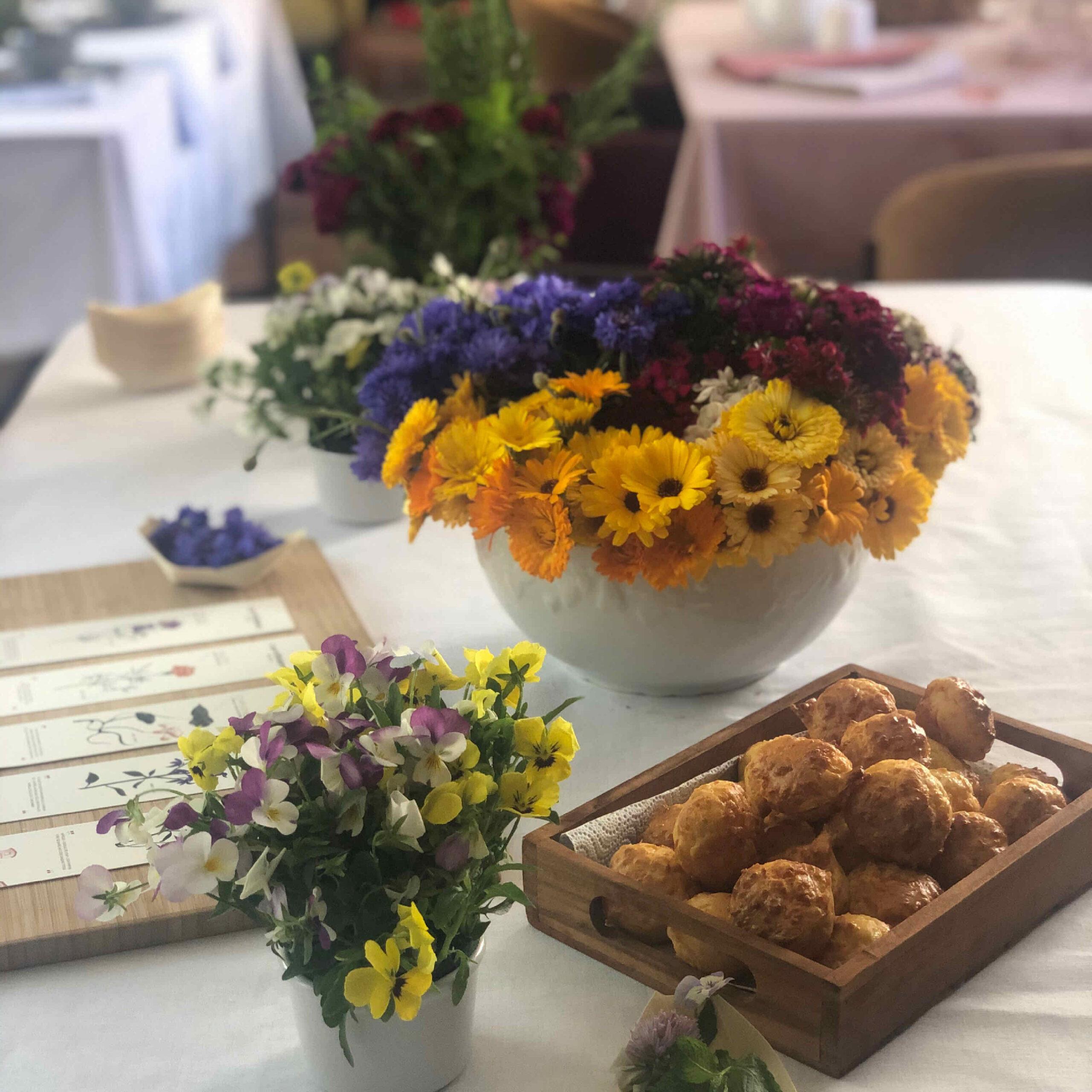 Bar à fleurs comestibles
