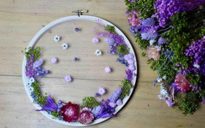 Atelier DIY Tambour de fleurs séchées
