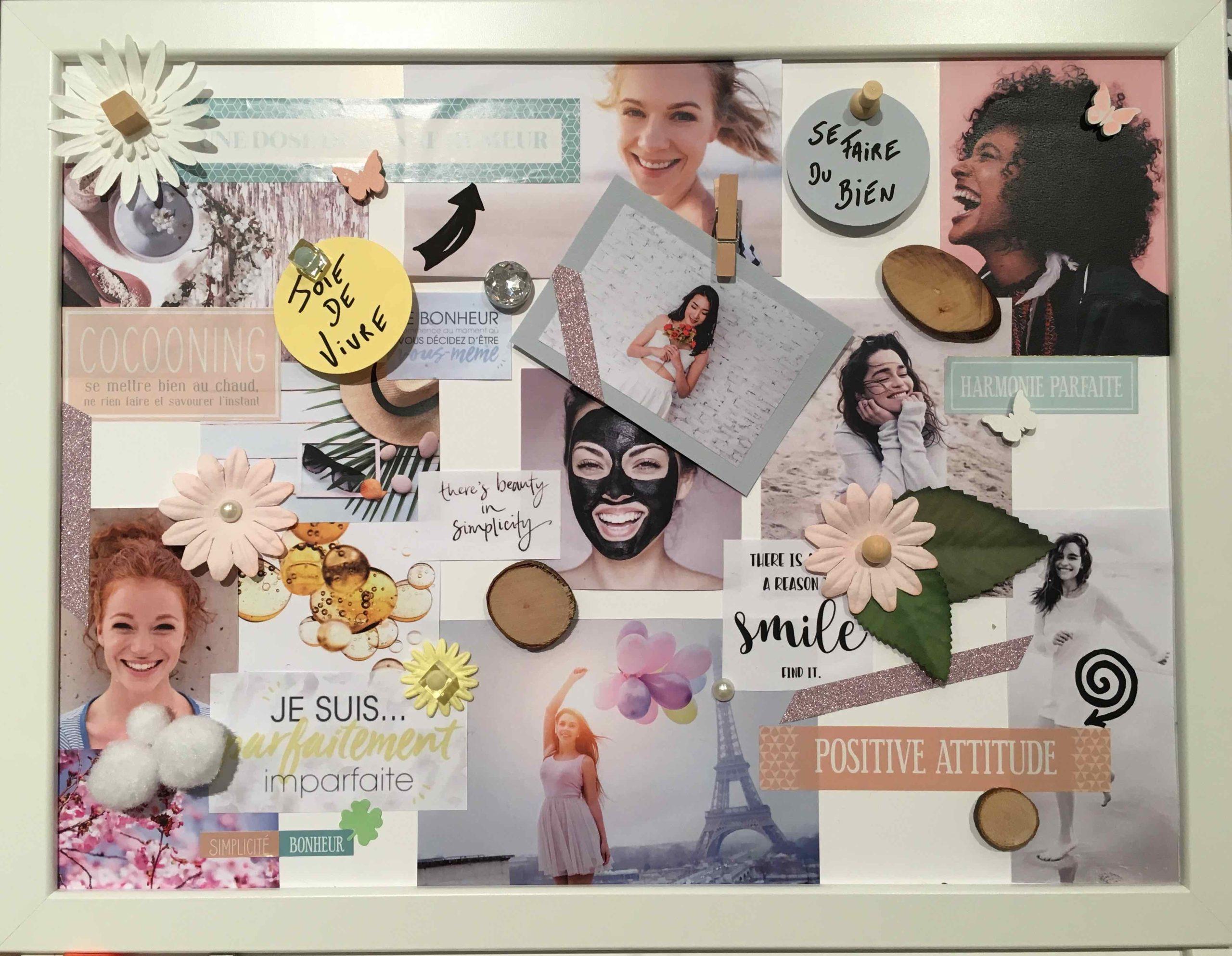 atelier vision board tableau de visualisation tembuilding DIY
