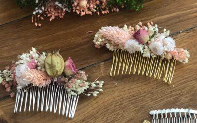 Tutoriel DIY peigne de fleurs séchées