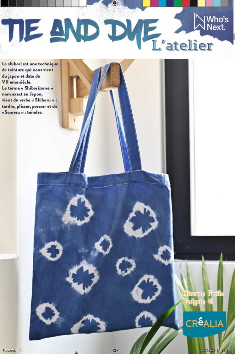tutoriel tie and dye tote bag
