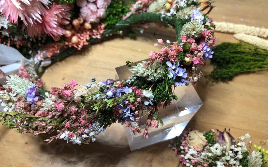 atelier couronne de fleurs séchées salon créations et savoir faire