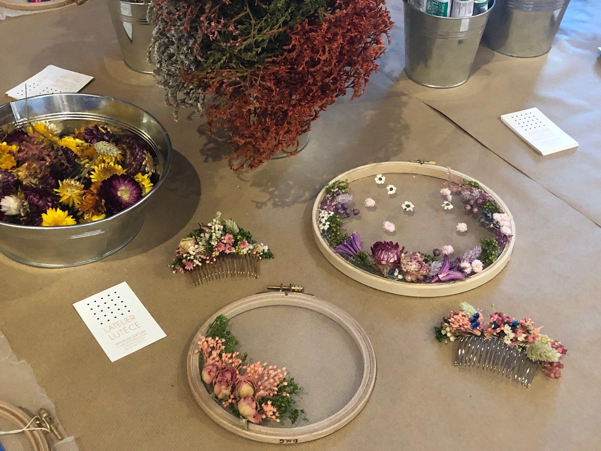 atelier fleurs séchées salon créations et savoir faire