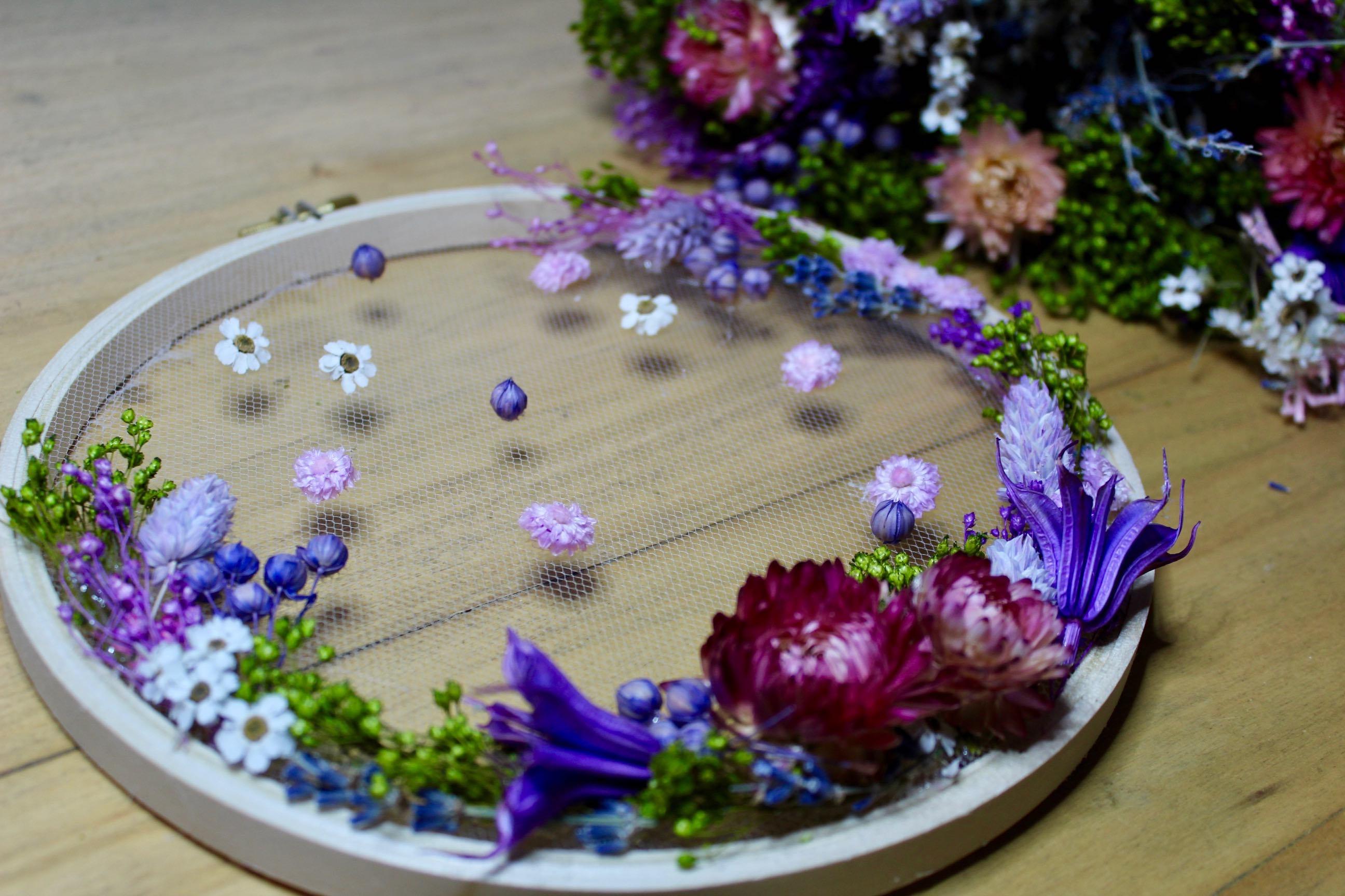 atelier DIY tambour fleurs séchées salon CSF