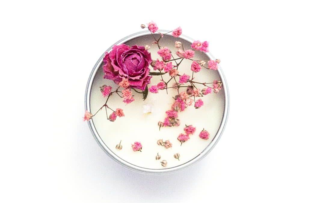 Tutoriel DIY Bougie parfumée et fleurie