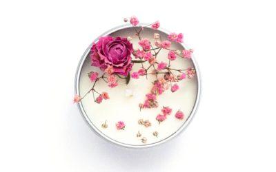 Tutoriel Bougie parfumée et fleurie DIY