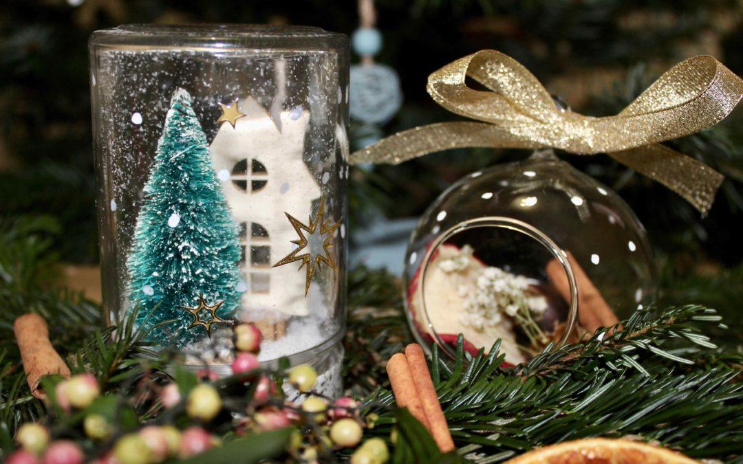 Atelier DIY Noël boule et jarre vegetaux