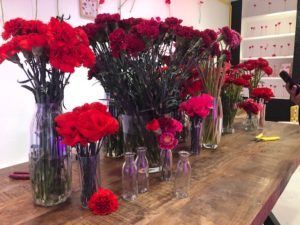 bar à fleurs soliflores Kenzo