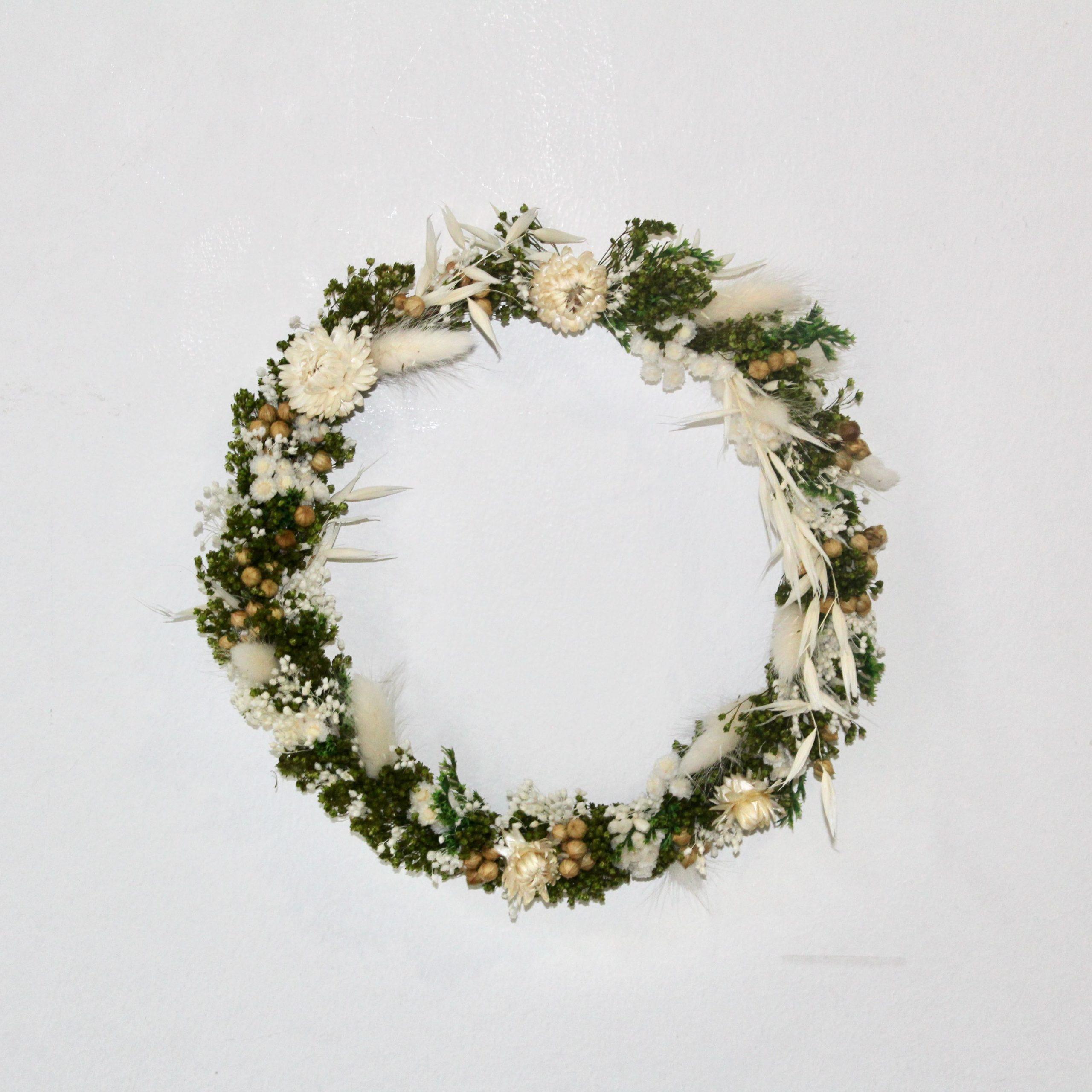 Kit DIY Turoriel couronne murale de fleurs séchées