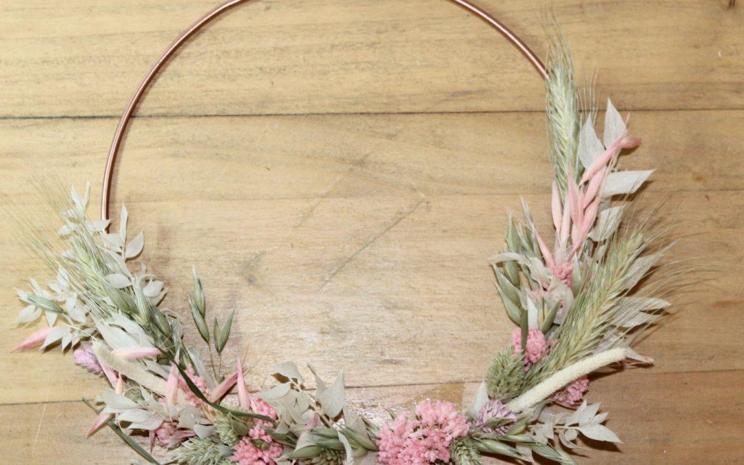 KIT DIY Tutoriel couronne murale de fleurs séchées