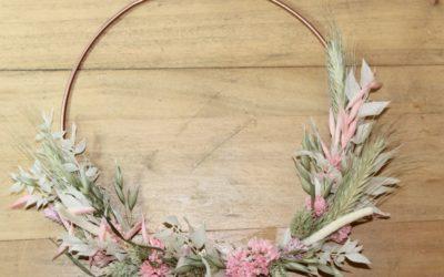 Tutoriel Couronne murale de fleurs séchées DIY