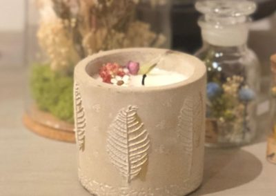 bougie végétale fleurie DIY