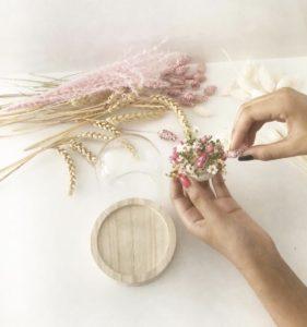 atelier diy cloche de fleurs séchées Lyon
