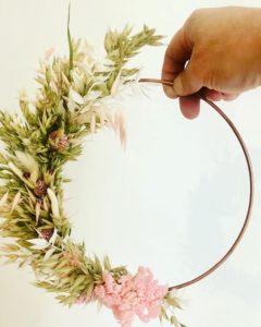 Atelier DIY Lyon cercle de fleurs séchées