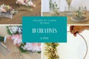 Ateliers DIY ID Créatives Lyon - fleurs séchées - peigne - cloche cercle