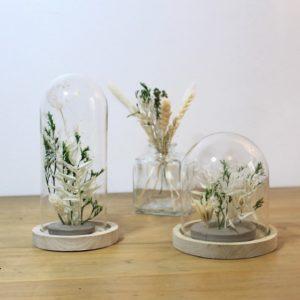 atelier diy lyon cloche fleurs séchées