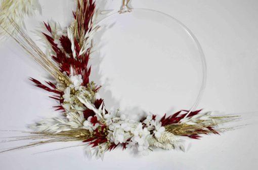 Kit couronne de noel fleurs séchées